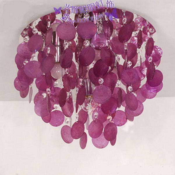 Естественная фиолетовый раковина потолок лёгкие кристалл лампа потолок лёгкие лаконичный потолок лёгкие лампы средний