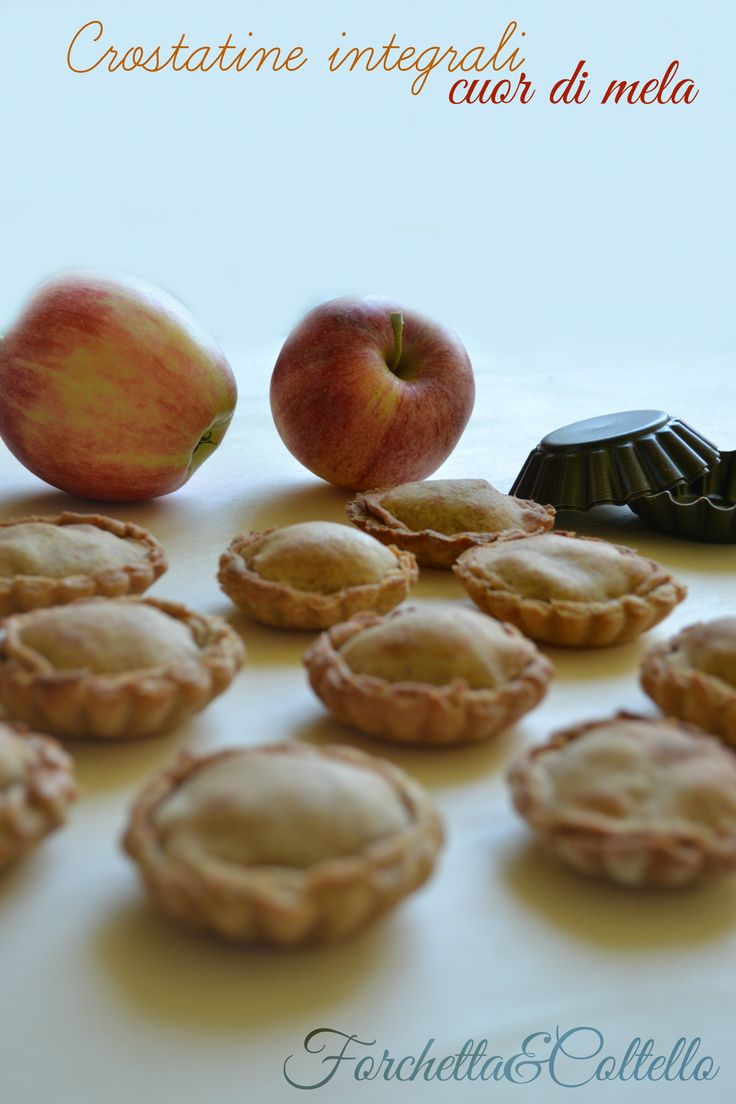 Crostatine integrali cuor di mela