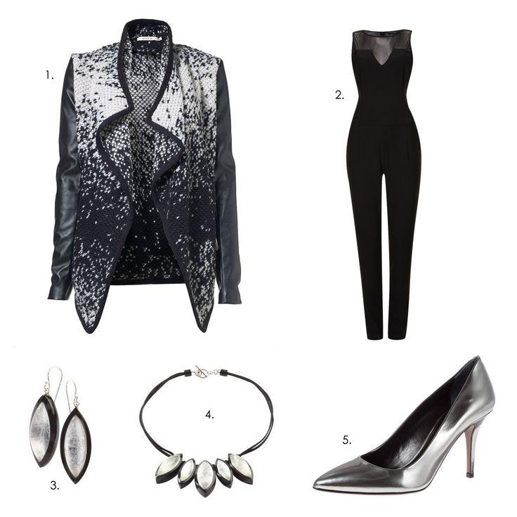 Stunning Christmas / NYE outfit! 1.Jacket: Nikki 2.Jumpsuit: Supertrash 3.Earrings: Zsiska Ra 4.Necklace: Zsiska Ra 5.Pumps: Hugo Boss