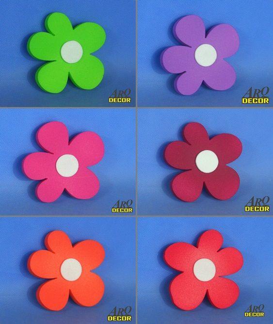 Pracownia Dekoracji ARQ - DECOR - Zestaw Kwiatów 13 CM - 6 Sztuk ! Kwiaty, Dekoracje Do Przedszkola,Pokój Dziecięcy