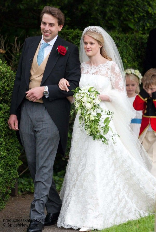 Lady Emily McCorquodale  ( Princess Diana's niece) her sister Lady Sarah McCorquodale is Diana's sister & James Hutt   June 9th 2012