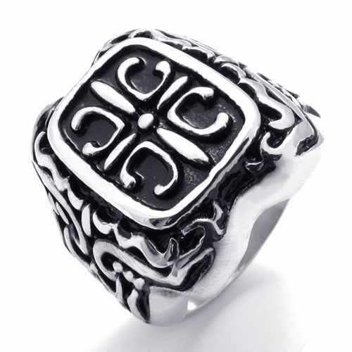 Панк ювелирные изделия из нержавеющей стали кольцо черный раунда с зерна женщин мужчины кольца преувеличенные обручальные кольца 20206