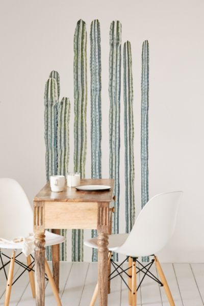 Walls Need Love Desert Cacti Wall Decal Set - Urban Outfitters