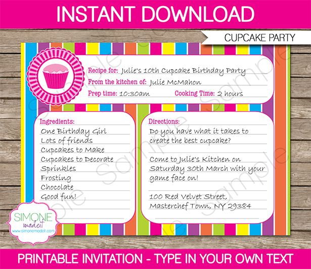 Best 25+ Cupcake invitations ideas on Pinterest Diesel eid gifts - party invite templates