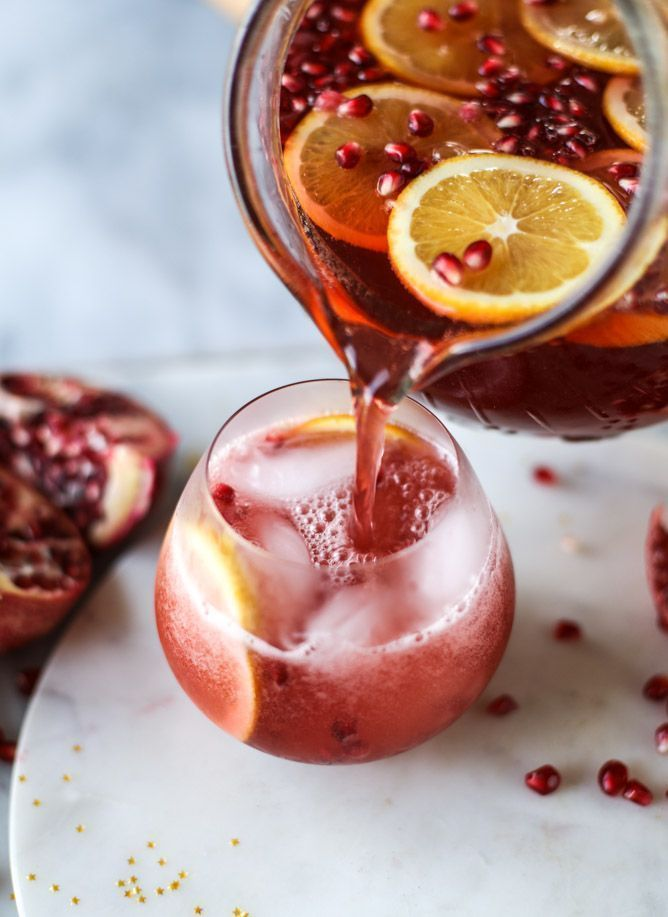 pomegranate orange punch I howsweeteats.com