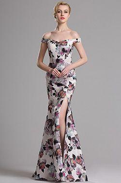 eDressit Off Shoulder Printed High Slit Prom Evening Dress (00163568) - USD 169.99