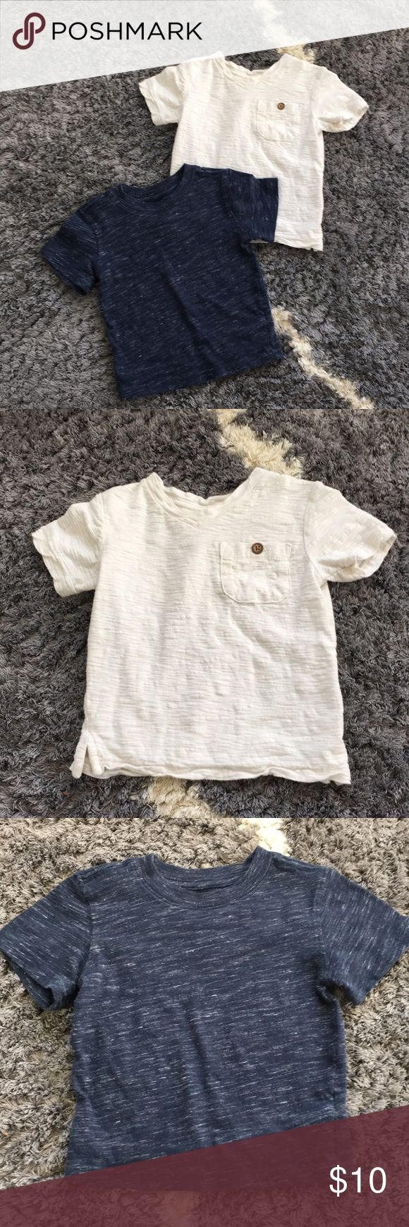 Heathered dress shirts Perfect condition! Navy is Cherokee brand and white is baby gap GAP Shirts & Tops Tees - Short Sleeve