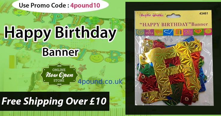 Celebrate your Birth day with our Birthday Party Banner at #4pound Shop online Now & Get 10% Discount. #Birthday_Party_Banner #Birthday_Banner Shop now : http://www.4pound.co.uk/happy-birthday-banner