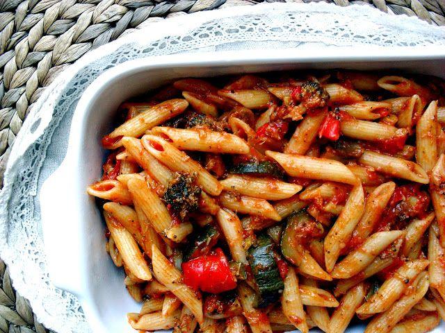 Kuchnia Alisz: Makaron z warzywami idealny na imprezę