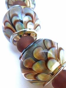 Ptd Handmade Lampwork Glass Beads Khaos Blooms Silver Glass SRA  eBay