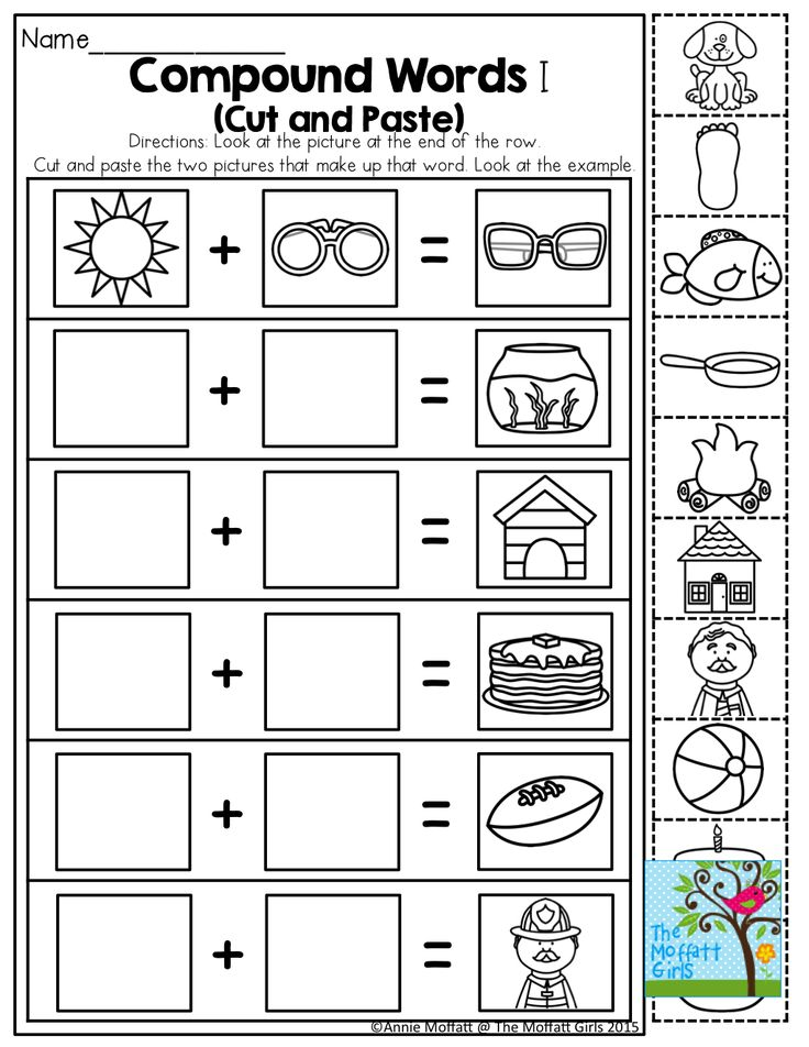 cut and paste compound words worksheets 1000 ideas about compound words on pinterest word. Black Bedroom Furniture Sets. Home Design Ideas