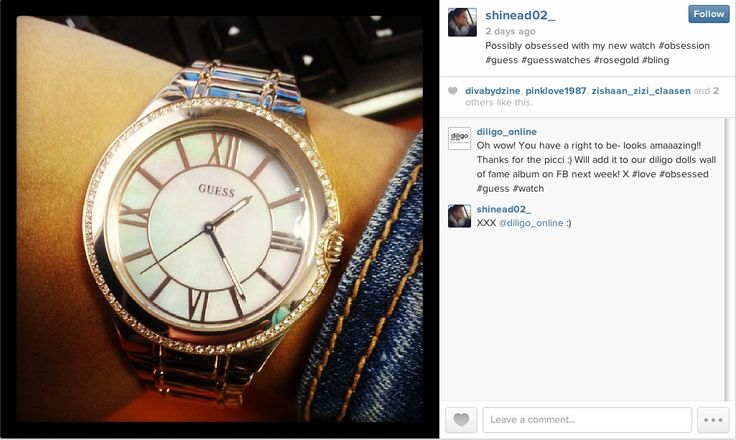 Shinead wearing her gorgeous #GUESSwatch. Thanks for the pic hun! X