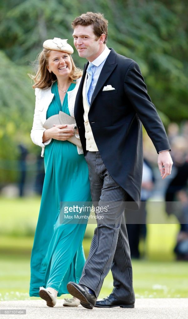 Lady Laura Meade and James Meade attend the wedding of Pippa Middleton and James Matthews at St Mark's Church on May 20, 2017 in Englefield Green, England.