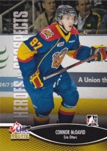 Connor McDavid of the Erie Otters in the Ontario Hockey League (OHL).