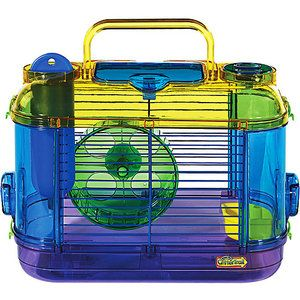 Super Pet CritterTrail Hamster Portable Petite Habitat...Hammy's cage, but doesn't show the extras on her cage!