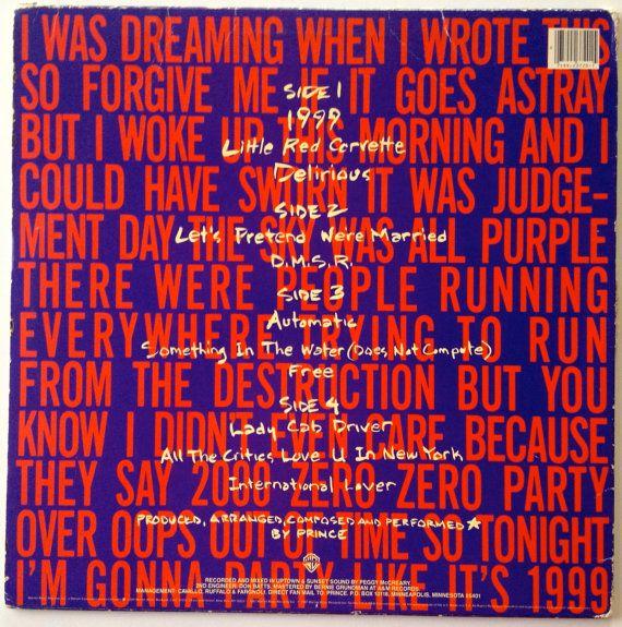 Prince 1999 LP Vinyl Record Album Warner Bros. by ThisVinylLife