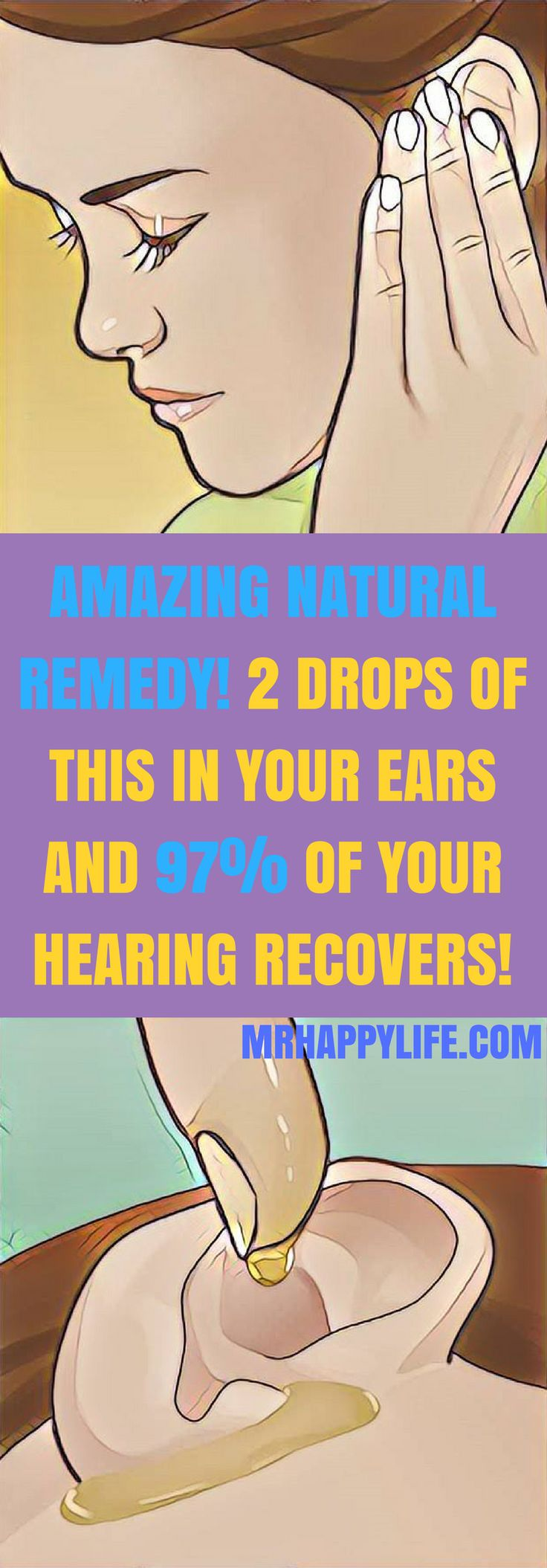 Auditory problems mostly appear because of aging, but recently, more and more people have this kind of problems no matter their age, sex or race. But, luckily for you, we're going to present you this amazing remedy. Only 2 drops of this mixture in your ea