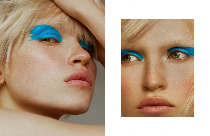 Colour explosions and neon contradictions by photography duo Elliot & Erick bring to life the ethereal features of model Anja Konstantinova in this Schön! online beauty editorial.