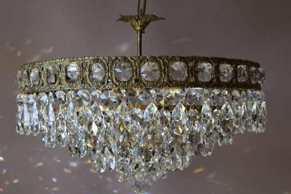 Luxury Vintage Crystal Chandelier Flush & Low Ceiling