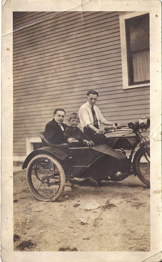 Vintage motorfiets fotografie kant auto