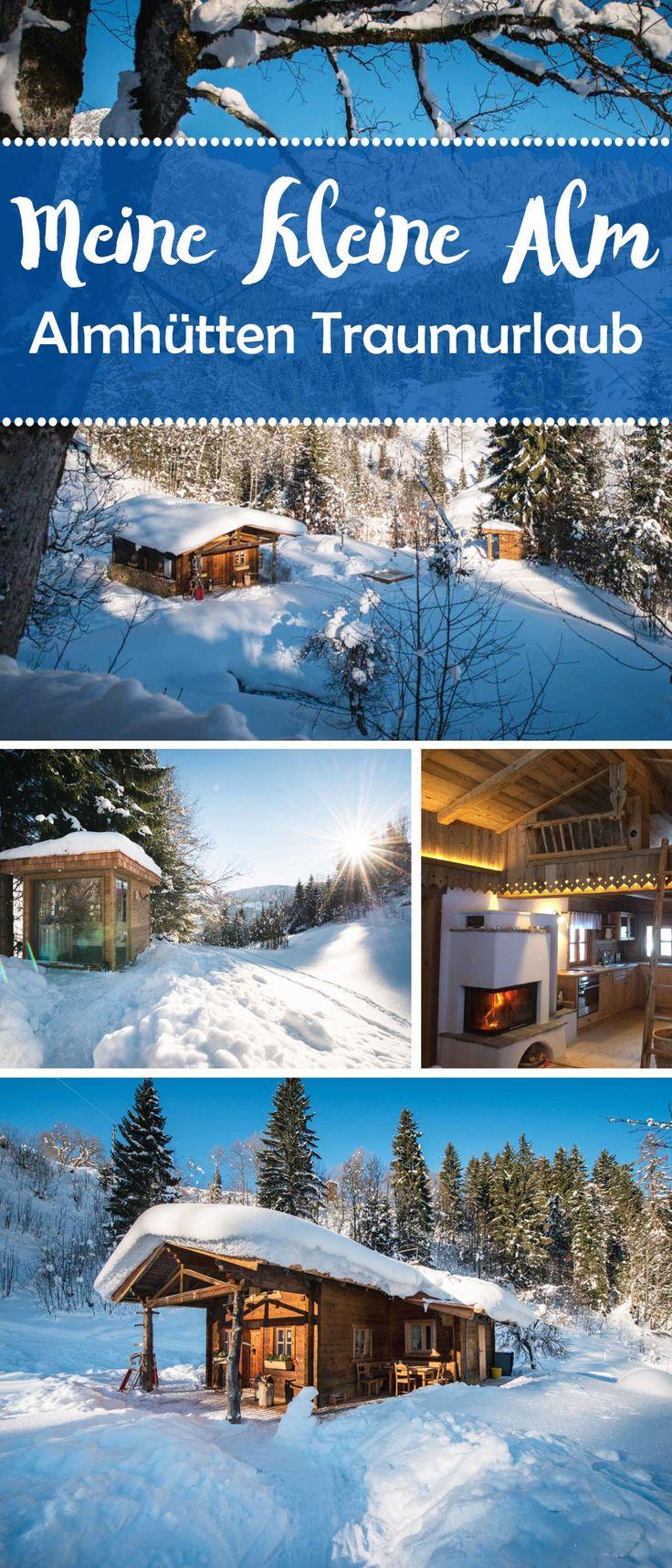 """Ruhe und Erholunginmitten einer Umgebung vollUrsprünglichkeit? GemeinsameZeit mit der Familieverbringen – woNaturund dasMiteinanderim Mittelpunkt steht? Dann fühlt ihr euch in """"Meiner kleinen Alm"""" sicher wohl.#Almhütte #Berge #Österreich #Salzburg #Winter #Ski #Schnee #Reisetipps #Sauna #Wellness #Whirlpool"""