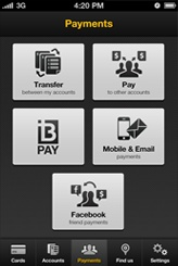 Peer2Peer, Mobile, eMail or Facebook contacts & NFC mobile payments (via Mastercard PayPass