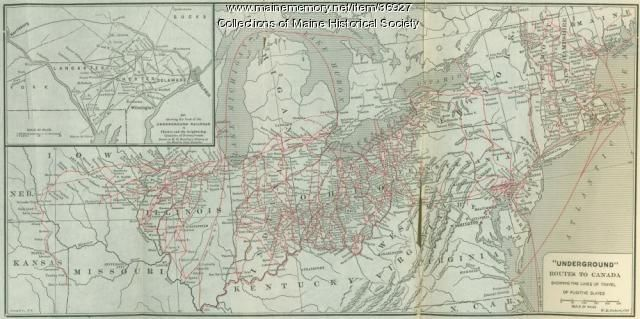 Map of underground routes to Canada, 1898