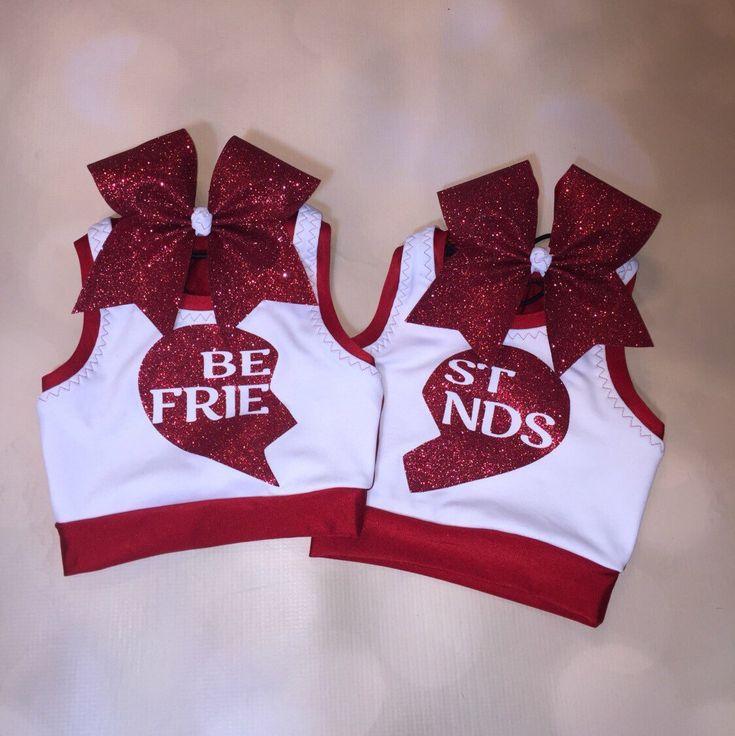 A personal favorite from my Etsy shop https://www.etsy.com/listing/493788364/girls-dancewear-crop-top-sports-bra-set