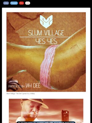"Slum Village ""Yes Yes"" (prod. by J Dilla) 1st leak off SLUM VILLAGE's new album coming later this year"