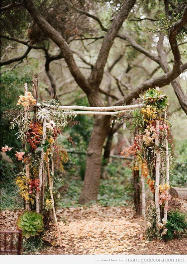 Autel mariage automne exterieur