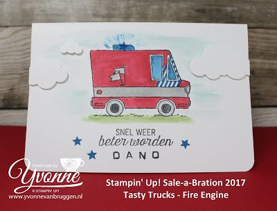 Yvonne is Stampin' & Scrapping: Stampin' Up! Sale-a-Bration 2017 Tasty Trucks - Fire Truck #stampinup