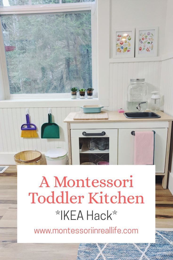 A functional toddler's kitchen – www.montessoriinr … – Montessori – #a # functional # toddler's kitchen #wwwmontessoriinr