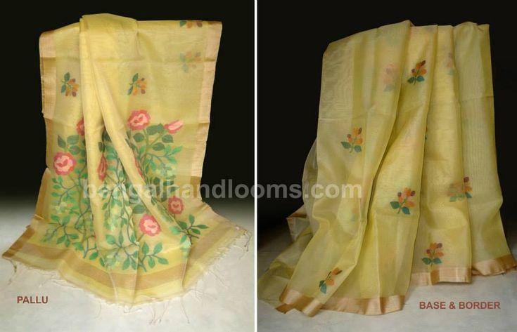 Bengal handloom saree - pure silk jamdani