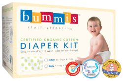 Bummis organic cotton prefolds. Perfect for new babies :)