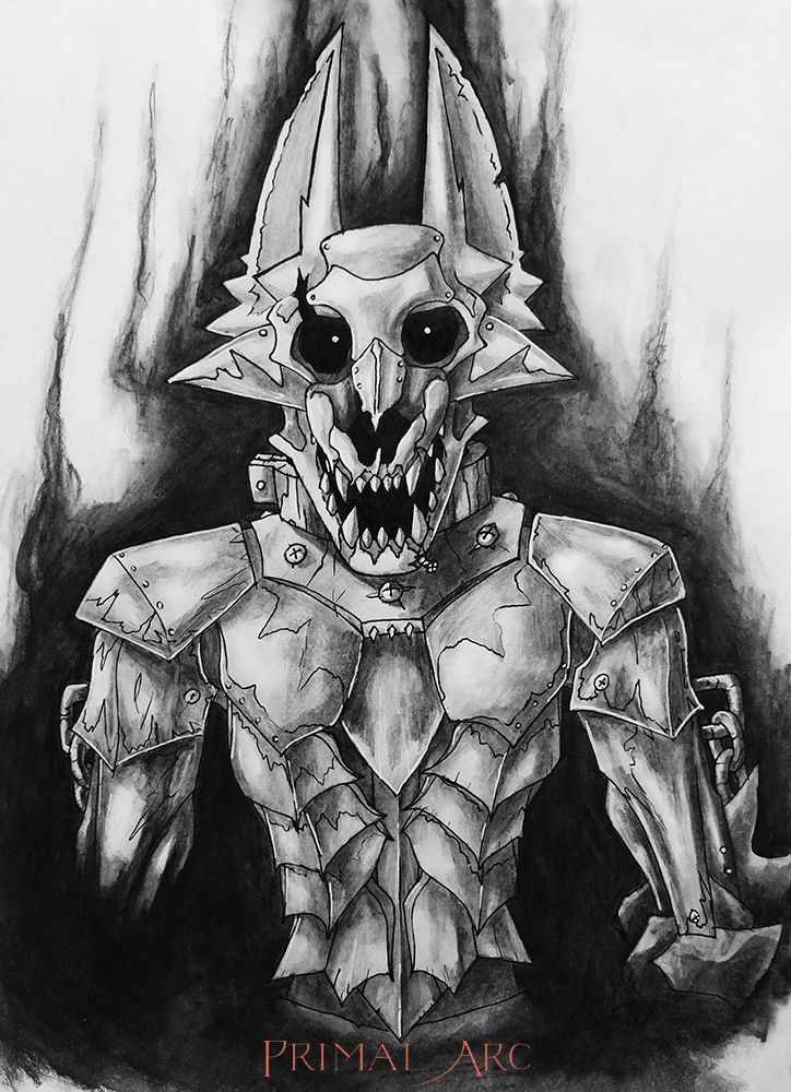 'Garou', graphite and ink. Five Nights at Freddy's OC.