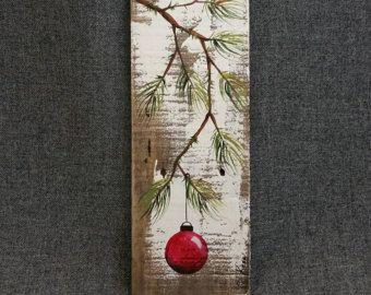 Val teruggewonnen hout Pallet kunst TALL door TheWhiteBirchStudio