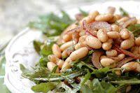 Cantinho Vegetariano: Salada de Feijão Branco e Rúcula (vegana)
