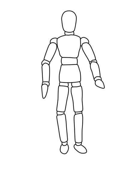 Mannequin outline for drawing or colouring-in/fashion design