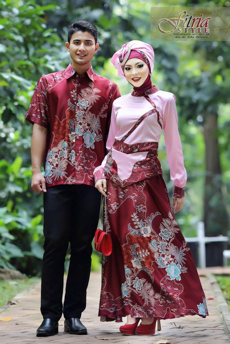 Baju Muslim Couple Fasa Syifa (Baby Pink/Merah)