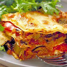 Lasagnes aux légumes rôtis
