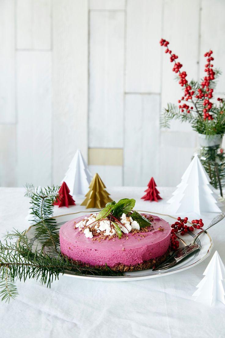 Punajuuri-vuohenjuustokakku | K-ruoka #joulu