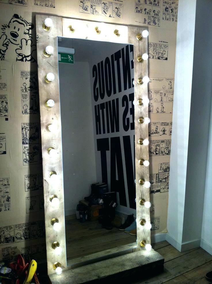 Big Mirror With Lights Elegant Mirrors Inspiring Floor Cheap Full