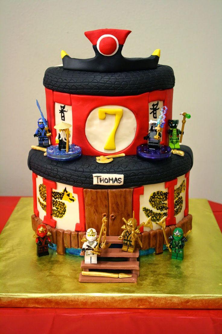 Die besten 25 Lego Ninjago Kuchen Ideen auf Pinterest  Ninja Geburtstagskuchen 6