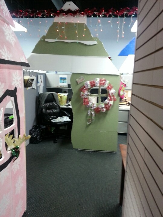 My Who House Office Cubicles Turned Into Whoville