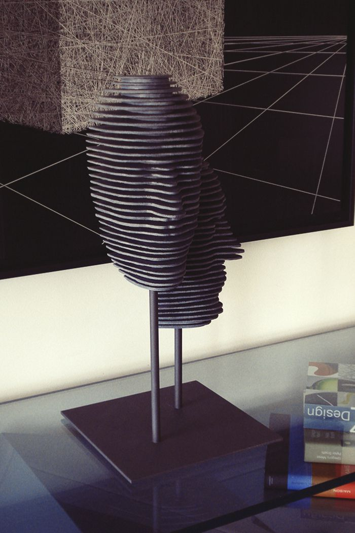 Sculpture en ardoise www.michele-boni.com