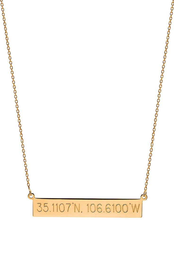 Coordinate nameplate necklace | Letters by Zoe Jewelry