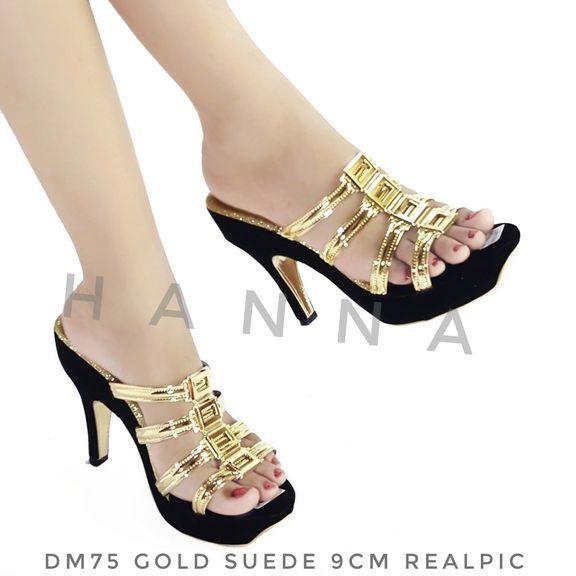 Everlust sparkle gold heel