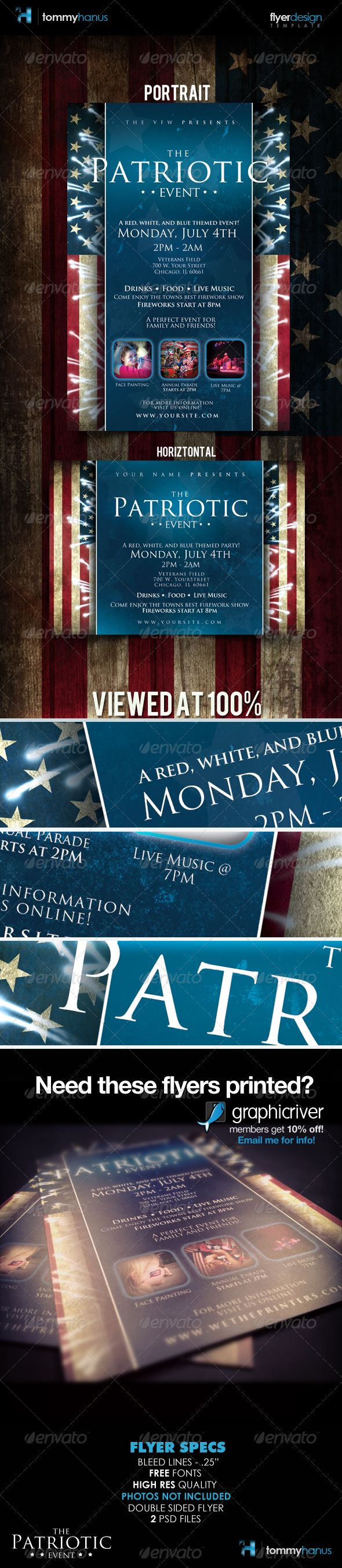 best images about flyer ideas templates events patriotic 4th of flyer template