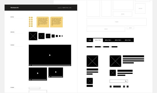 Photoshop Wireframe Kit (PSD)