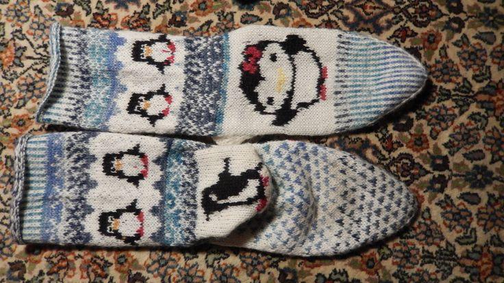 Penguin socks chausssettes pin gouin